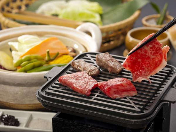 【特選料理】松阪牛鉄板焼&温泉野菜蒸を味わおう!ワインハーフボトル特典付