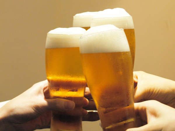 【館内どこでもビール祭りプラン】◎期間限定・平日限定◎冬でもやりますっ!ビール飲み放題!特典付♪