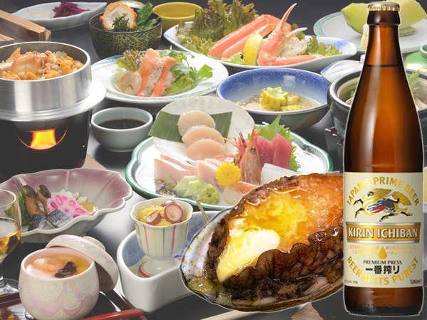 【旬鮮おすばで(酒の肴)とキリン一番搾りで乾杯プランE】ビール1本付☆海の幸で乾杯☆海鮮釜飯付