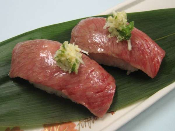 こだわりの食材『山形牛』の炙り寿司 ※イメージ