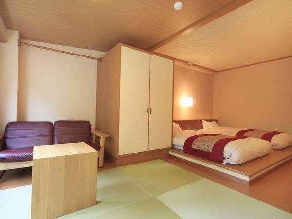 ◆客室一例【和ベッドルーム】伝統的な和空間とフロアーベッドの和モダンの雰囲気が心地よいお部屋です