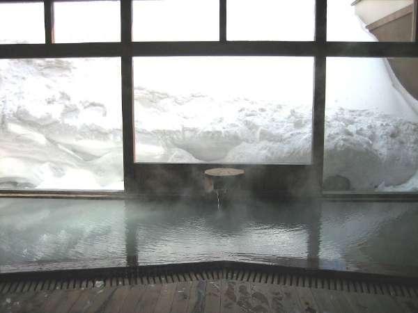 ■内湯/内湯からも雪景色がご覧いただけます