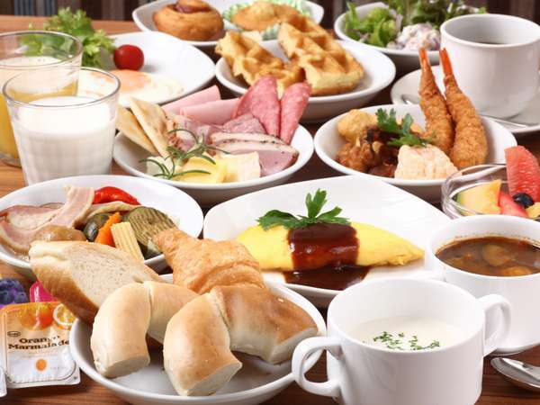 【朝食が旨い!】 全80種以上!海と大地の恵み!《和洋バイキング朝食付きプラン》♪