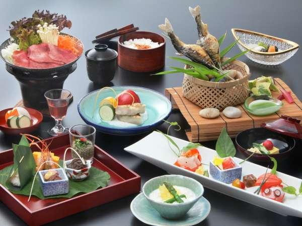 ■季節の和会席料理 夏の一例 旬の味覚をお楽しみ下さいませ。