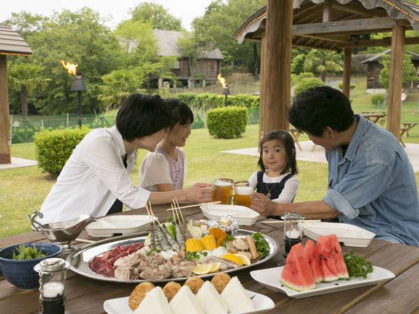 【夏季限定!人気No.1】シェフ特製バーベキュー!高原リゾートで過ごす夏♪≪ガーデンBBQ≫