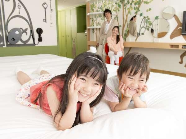【キッズ★ウエルカム!】12才まで添い寝OK! 特典満載ファミリープラン(常設ベッド3台部屋確約)