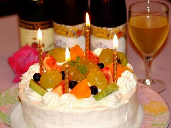 【特典】二人だけの大切な記念日!シャンパン・ケーキ付き