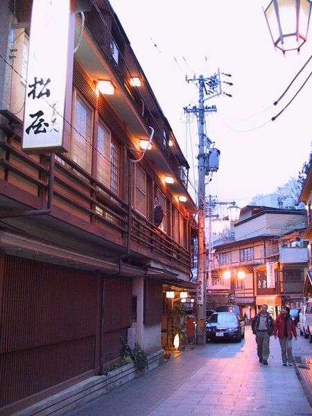 信州渋温泉 洗心館 松屋の外観
