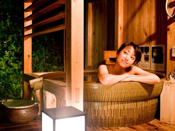 あなただけの里山の恵み、当館自慢の個室露天風呂