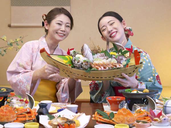 日本海の味覚 とれとれ★ピチピチの旬魚をドーンと舟盛で♪