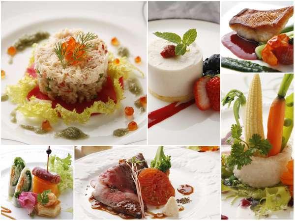 北海道の食材を活かしたフレンチコースディナー 一例 写真提供:じゃらんnet