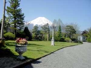 *庭から見た富士山
