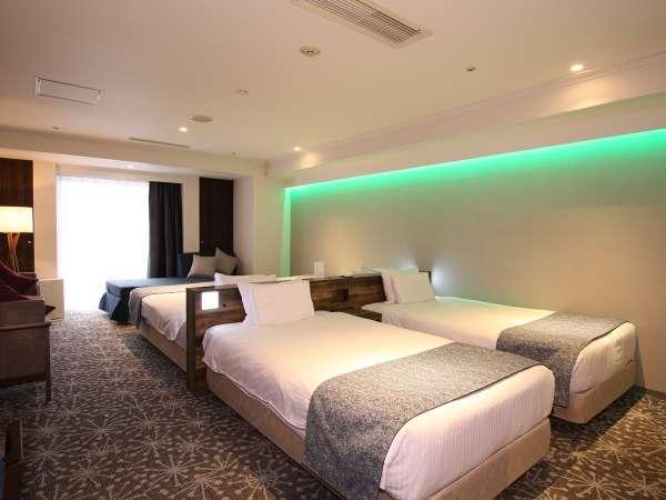 【グランドファミリー(55平米)】55平米の広さを誇る最上階に位置する4ベッドルームです。
