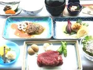 いろいろな美味しさの鉄板焼ディナー! 1泊2食 【新味覚鉄板焼夕食】【和洋バイキング朝食付】