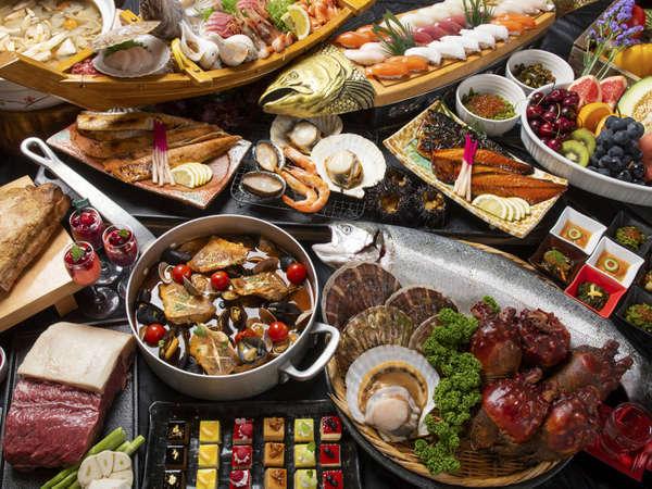 三陸の地産食材を楽しむ 夕食ビュッフェ_例
