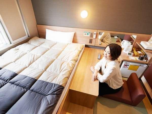 【春特集】モデレート和シングルルーム指定プラン 畳で足を伸ばせる♪140cm幅のベッド