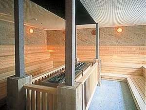 別館安比温泉白樺の湯広々としたサウナスペース (無料送迎あり)