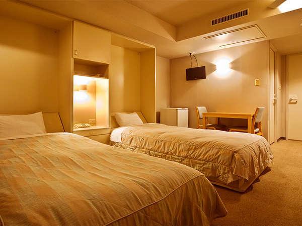 2ベッド シンプルな作りのツインルーム
