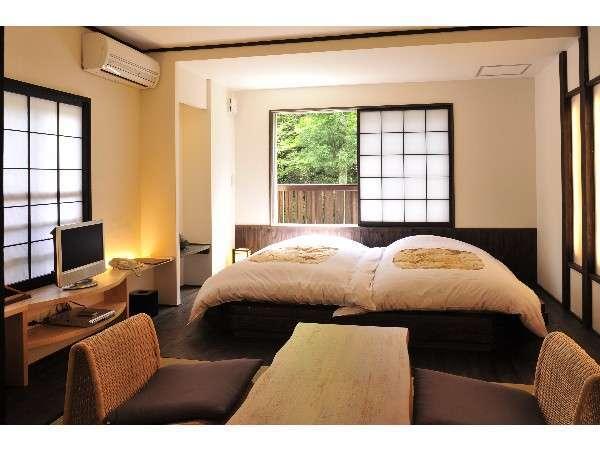 【本館 月の彩り】半露天風呂付き和室「藤」「橙」 宿泊プラン