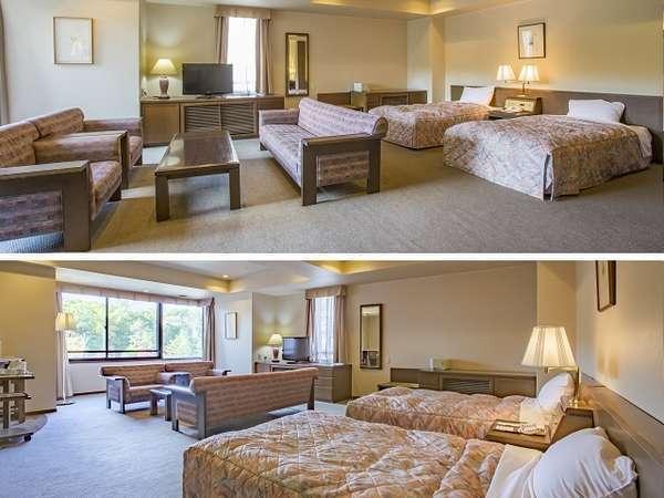 スーペリアツイン 一般的な客室でありながら56平米の広々とした室内