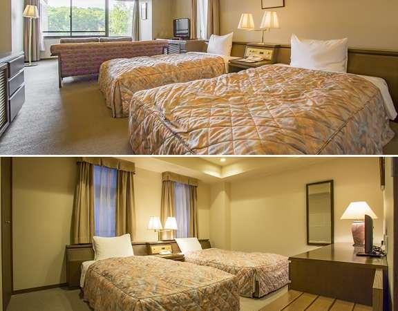 4ベッドルーム  81平米 2つのツインベッドルームの広さの洋室スイート