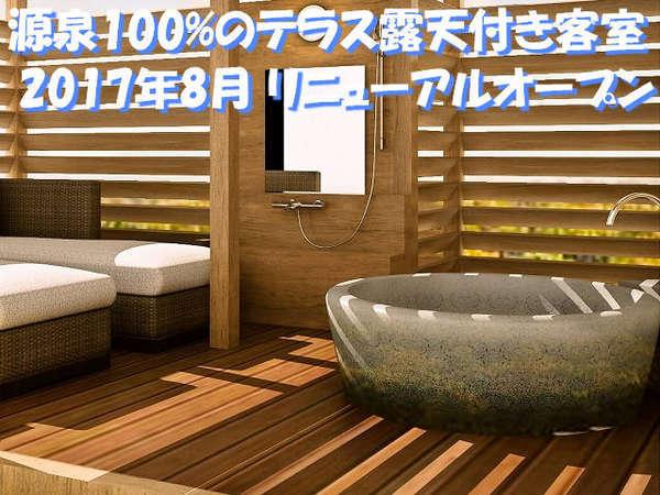 【贅沢リゾート・露天客室】 源泉掛け流し露天のお部屋&選べるディナー(イメージ画像)