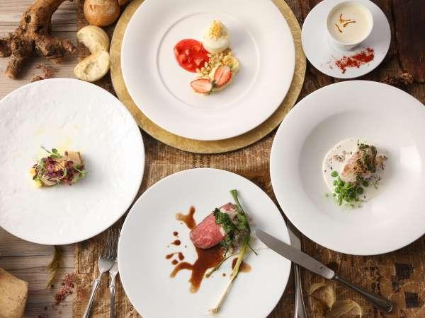 【レストラン ラ・ベリエール】地物と旬の食材の創作フレンチコース『一つ星 季節のメニュー』