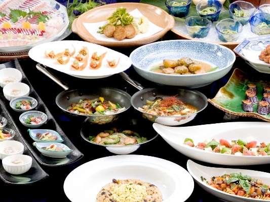 ホテルアムステルダムのブッフェ。九州の食材を使った和洋中のお料理が楽しめる♪