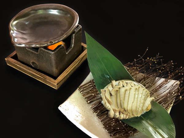 夏秋の特別懐石【鮑の焼きしゃぶ付き】夕食ランクアッププラン~夕朝食付~