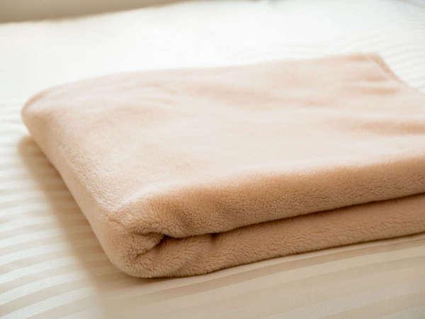 お部屋には、毛布が備え付けられています。