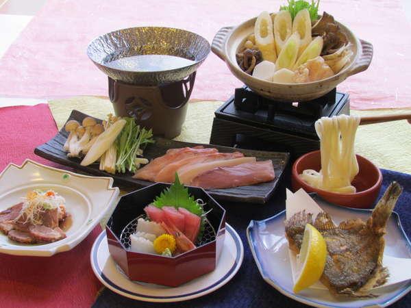 11月限定プラン きりたんぽ鍋と海鮮しゃぶしゃぶ 冬のあつあつプラン