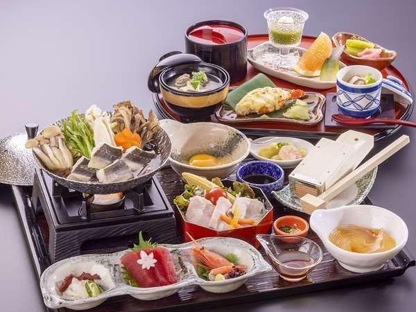 穴子すき鍋&手作りところてん - 本膳料理イメージ