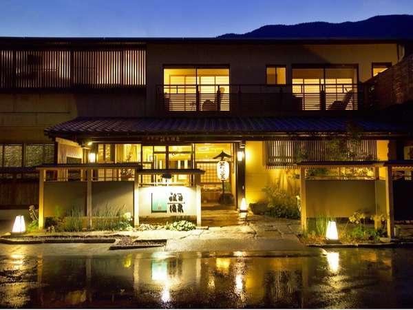 夜のホテル祖谷温泉 玄関