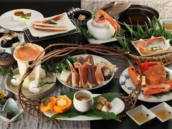 冬の日本海の味覚!ズワイガニの膳