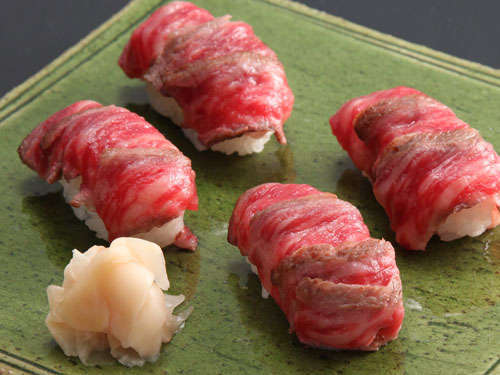 山形牛サーロイン握り寿司プラン