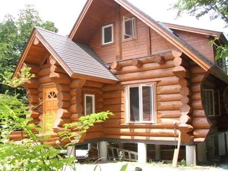 コテージ蒜山の森~コンセプトログハウスでリラックス!の外観