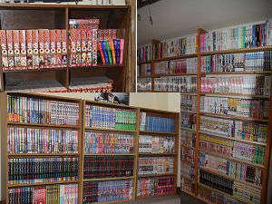 館内にはコミックが1500冊以上!