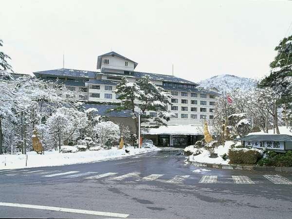 ホテル紅葉館 朝、窓の外に広がる雪景色は絶景です!