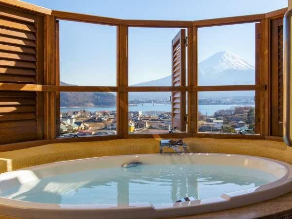 【じゃらん限定】露天風呂付き客室で富士山を二人占め☆特典付カップルプラン