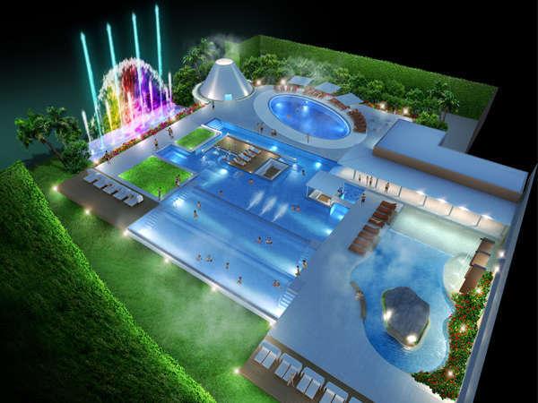 2010年12月11日オープン!水着で楽しむ温泉施設『ザ アクアガーデン』