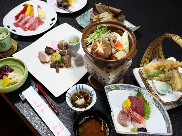 *地元の味覚にこだわったお料理の数々…ぜひお楽しみください(料理一例)