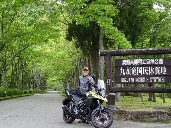 奥越高原県立自然公園、新緑眩しい九頭竜国民休養地にて 福井市内より車で約1時間半