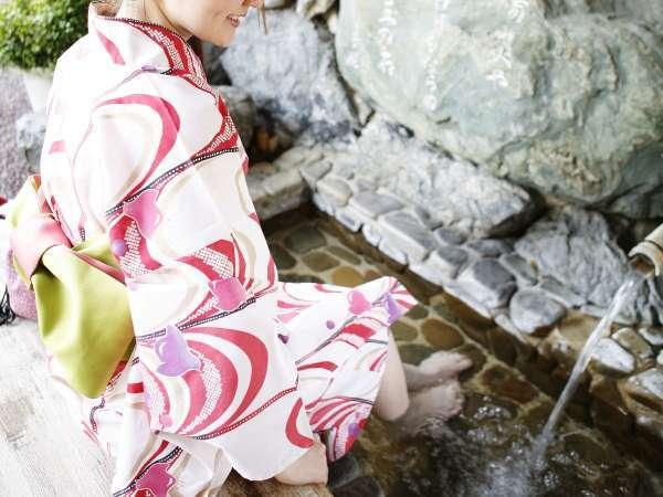 ■別館足湯/姉妹館の椿館別館の足湯でほっこり♪
