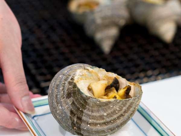 ■夕食(ハ゛イキンク゛)/≪さざえの壺焼き≫目の前で焼きあがるサザエは絶品♪