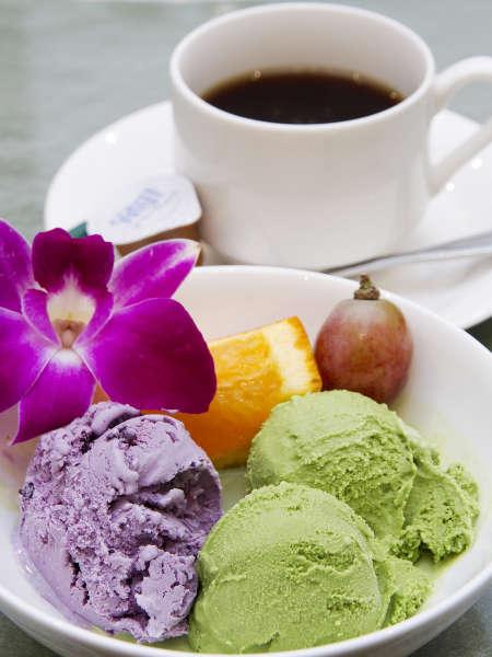■夕食(ハ゛イキンク゛)/ハーゲンダッツのアイスクリームは、日によって種類が替ります。