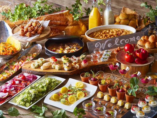 北海道の定番料理から、道産食材をふんだんに使ったアレンジメニューなど華やかなブッフェで朝食を♪