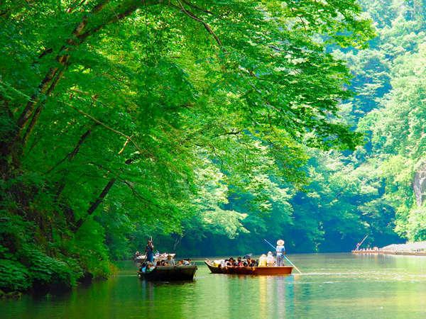 【周辺観光】《名勝 日本百景・猊鼻渓》当館から徒歩で約8分