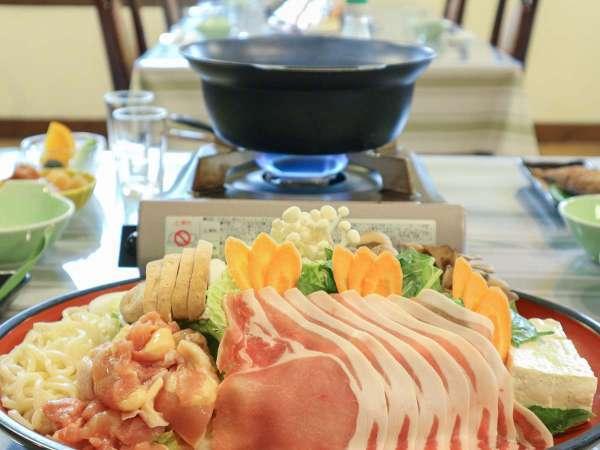 *夕食一例/メインの豚しゃぶ鍋