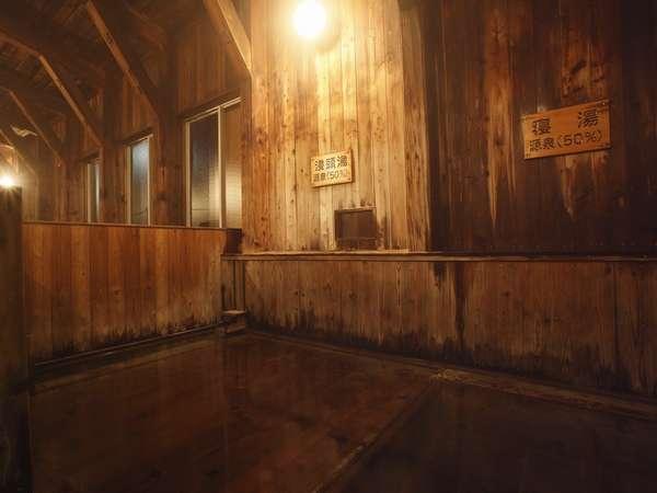 浸頭湯、寝湯は横になって入浴します
