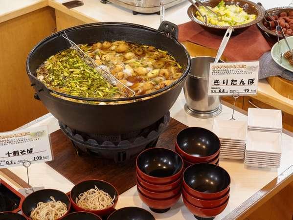 ご夕食ビュッフェ料理一例 「きりたんぽ鍋」